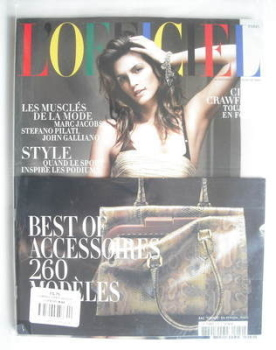 L'Officiel Paris magazine (April 2010 - Cindy Crawford cover)