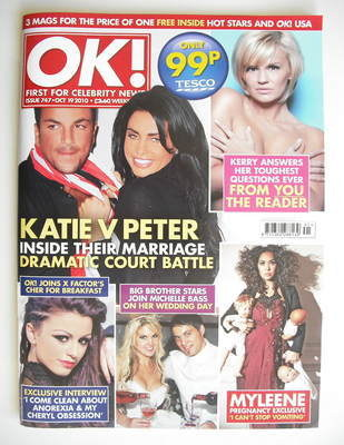 <!--2010-10-19-->OK! magazine - Jordan Katie Price and Peter Andre cover (1