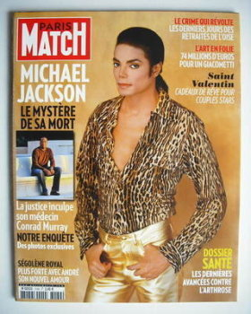 Paris Match magazine - 11-17 February 2010 - Michael Jackson cover