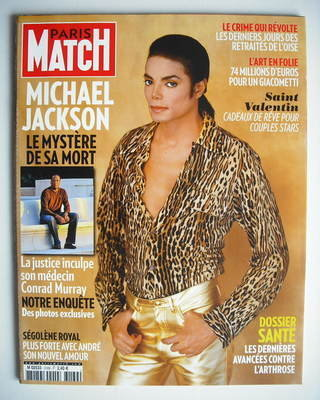 <!--2010-02-11-->Paris Match magazine - 11-17 February 2010 - Michael Jacks