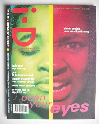 <!--1991-05-->i-D magazine - Open Your Eyes cover (May 1991 - Issue 92)