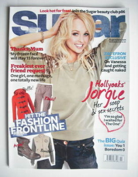 Sugar magazine - Jorgie Porter cover (November 2010)