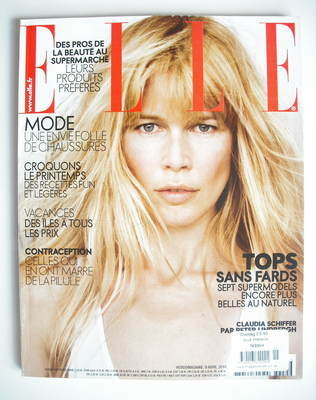 <!--2010-04-09-->French Elle magazine - 9 April 2010 - Claudia Schiffer cov