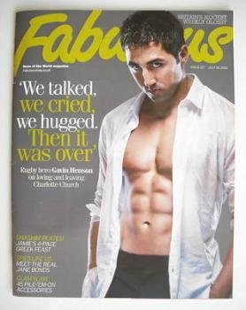Fabulous magazine - Gavin Henson cover (18 July 2010)