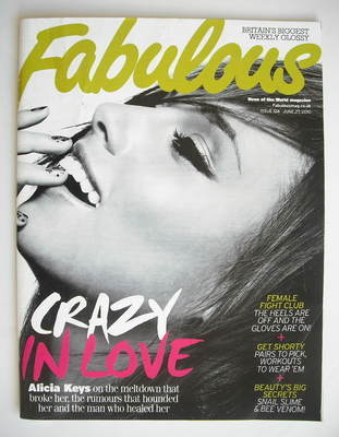 <!--2010-06-27-->Fabulous magazine - Alicia Keys cover (27 June 2010)