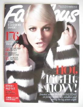 Fabulous magazine - Jaime Winstone cover (19 September 2010)