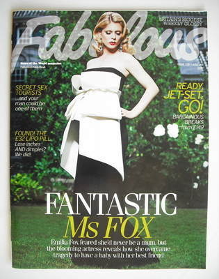 <!--2010-07-25-->Fabulous magazine - Emilia Fox cover (25 July 2010)