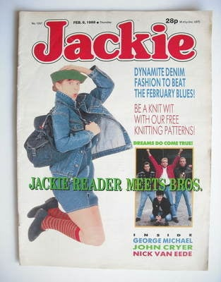 <!--1988-02-06-->Jackie magazine - 6 February 1988 (Issue 1257)