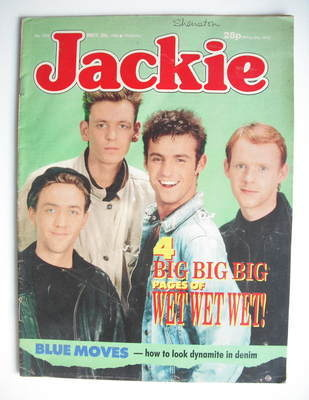 <!--1988-05-28-->Jackie magazine - 28 May 1988 (Issue 1273 - Wet Wet Wet co