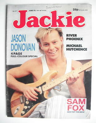 <!--1988-06-25-->Jackie magazine - 25 June 1988 (Issue 1277 - Jason Donovan