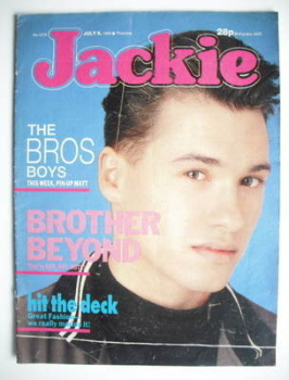 Jackie magazine - 9 July 1988 (Issue 1279 - Nathan Moore cover)