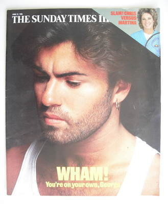 <!--1986-06-22-->The Sunday Times magazine - George Michael cover (22 June