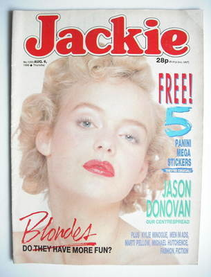<!--1988-08-06-->Jackie magazine - 6 August 1988 (Issue 1283)