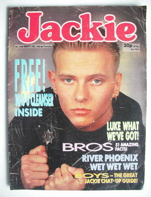 <!--1988-09-10-->Jackie magazine - 10 September 1988 (Issue 1288 - Matt Gos