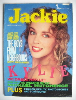 Jackie magazine - 24 September 1988 (Issue 1290 - Kylie Minogue cover)