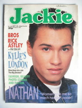 Jackie magazine - 22 October 1988 (Issue 1294 - Nathan Moore cover)