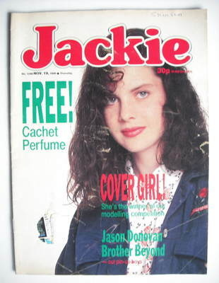 <!--1988-11-19-->Jackie magazine - 19 November 1988 (Issue 1298)