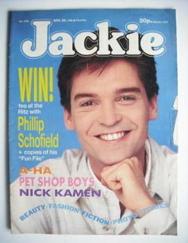 Jackie magazine - 26 November 1988 (Issue 1299 - Phillip Schofield cover)