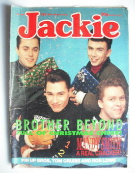 Jackie magazine - 24 December 1988 (Issue 1303 - Brother Beyond cover)