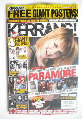 <!--2010-11-13-->Kerrang magazine - Hayley Williams cover (13 November 2010