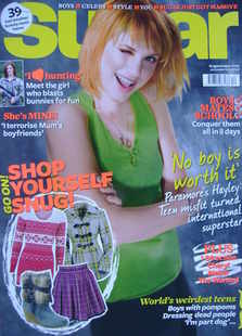 Sugar magazine - Hayley Williams cover (December 2010)