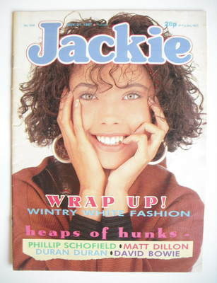 <!--1987-11-21-->Jackie magazine - 21 November 1987 (Issue 1246)