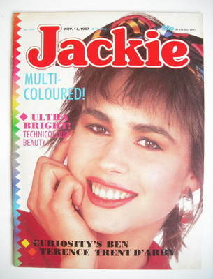<!--1987-11-14-->Jackie magazine - 14 November 1987 (Issue 1245)