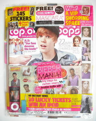 <!--2010-09-15-->Top Of The Pops magazine - Justin Bieber cover (15 Septemb