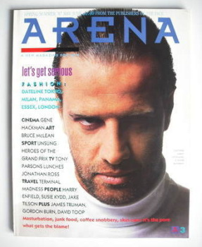 Arena magazine - Spring/Summer 1987 - Christopher Lambert cover