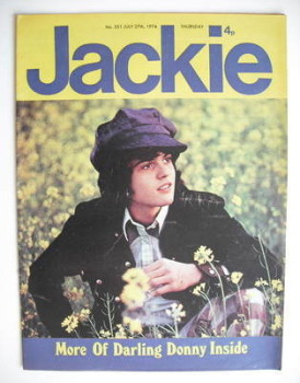 Jackie magazine - 27 July 1974 (Issue 551 - Donny Osmond cover)