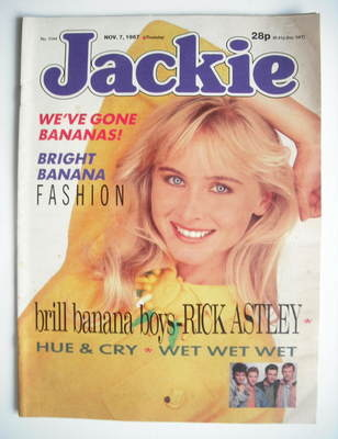 <!--1987-11-07-->Jackie magazine - 7 November 1987 (Issue 1244)