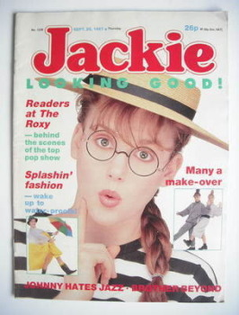 Jackie magazine - 26 September 1987 (Issue 1238)