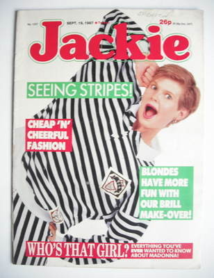 <!--1987-09-19-->Jackie magazine - 19 September 1987 (Issue 1237)
