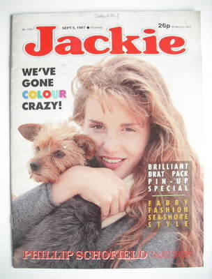 <!--1987-09-05-->Jackie magazine - 5 September 1987 (Issue 1235)