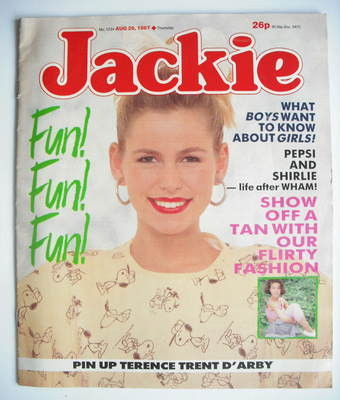 <!--1987-08-29-->Jackie magazine - 29 August 1987 (Issue 1234)