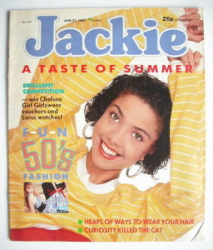 Jackie magazine - 22 August 1987 (Issue 1233)