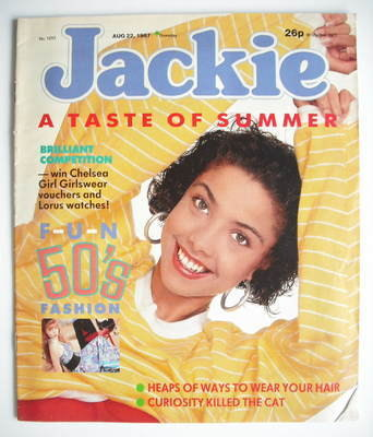 <!--1987-08-22-->Jackie magazine - 22 August 1987 (Issue 1233)