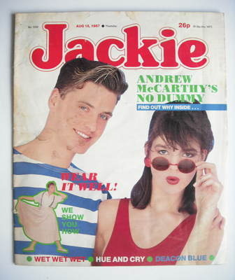 <!--1987-08-15-->Jackie magazine - 15 August 1987 (Issue 1232)