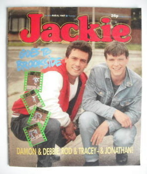 Jackie magazine - 8 August 1987 (Issue 1231 - Steve Pinner and Simon O'Brien cover)