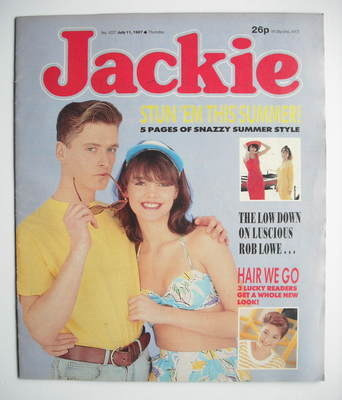 <!--1987-07-11-->Jackie magazine - 11 July 1987 (Issue 1227)