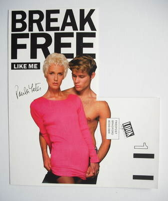 Look Again advertisement card - Paula Yates cover