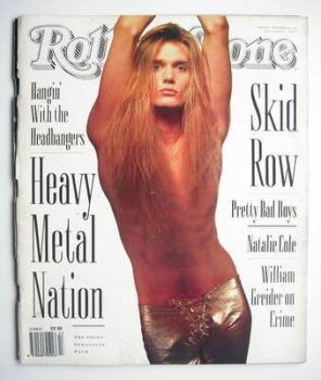 Rolling Stone magazine - Sebastian Bach cover (19 September 1991 - Issue 613)