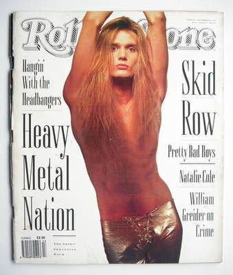 Rolling Stone magazine - Sebastian Bach cover (19 September 1991 - Issue 61