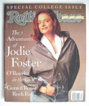 Rolling Stone magazine - Jodie Foster cover (21 March 1991 - Issue 600)