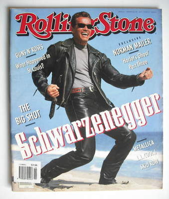 Rolling Stone magazine - Arnold Schwarzenegger cover (22 August 1991 - Issu