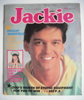Jackie magazine - 27 June 1987 (Issue 1225 - Phillip Schofield cover)