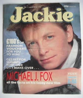 <!--1987-06-20-->Jackie magazine - 20 June 1987 (Issue 1224 - Michael J Fox
