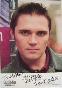 Alex Ferns autograph (ex EastEnders actor)