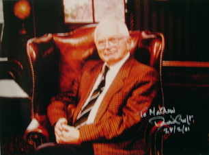 David Croft autograph (hand-signed photograph, dedicated)