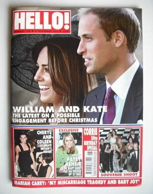 <!--2010-11-22-->Hello! magazine - Prince William and Kate Middleton cover